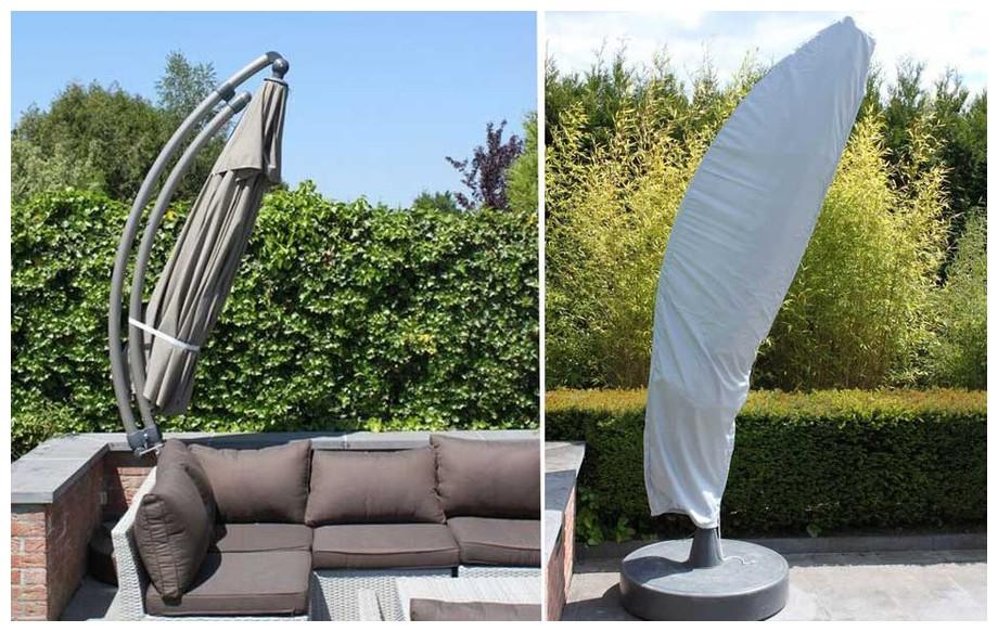 housse de rangement pour parasol déporté carré Easy Sun 320