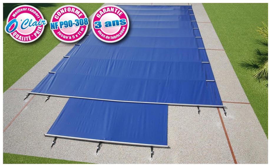 Couverture a barres jusqu 39 5 x 11 m en 7 couleur for Piton bache piscine