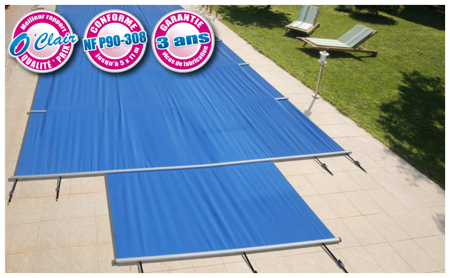 B che barres piscine pool barres plus pitons douilles for Piton bache piscine