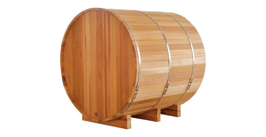 Sauna traditionnel extérieur en Red Cedar - vue arrière