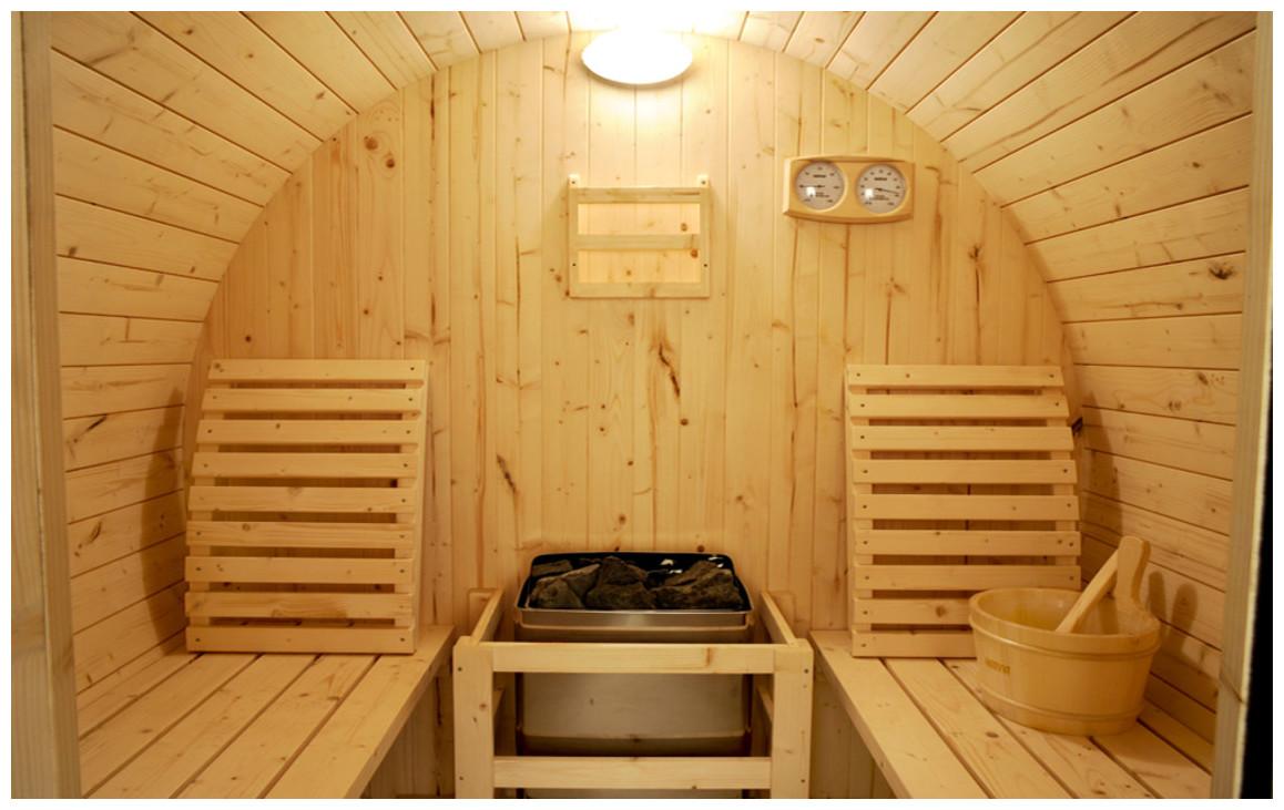 équipement du sauna vapeur tonneau en pin
