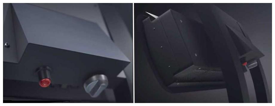 bouton allumage du parasol chauffant Smart Heat Fargau en situation