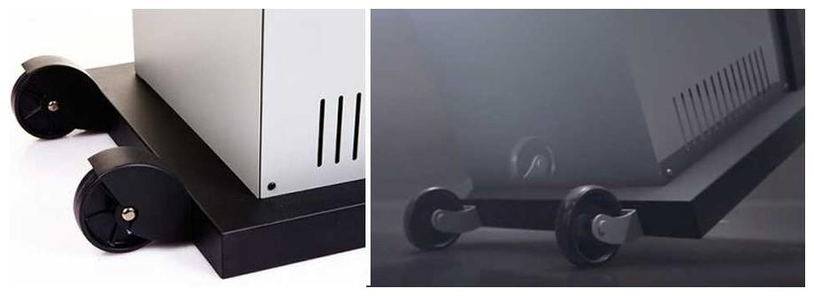 roues du chauffage à gaz Smart Heat Fargau en situation