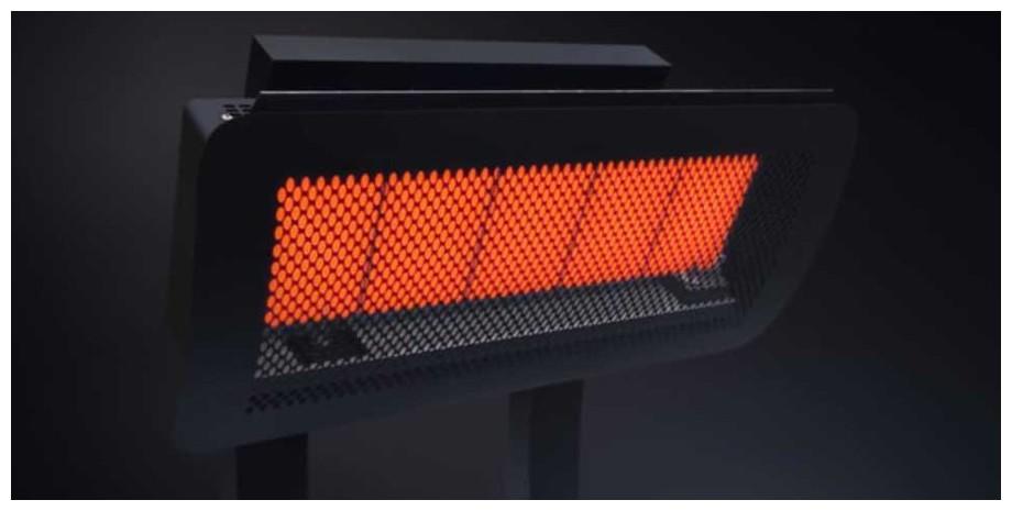 diffusion de la chaleur du chauffage à gaz Smart Heat Fargau en situation