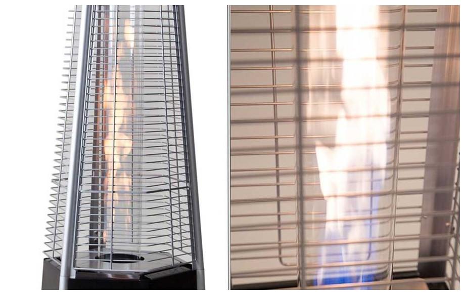diffusion de la chaleur du chauffage à gaz Sun Hexagone Fargau en situattion