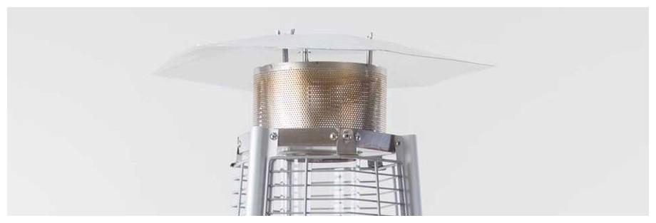 réflecteur du chauffage à gaz Sun Hexagone Fargau en situation