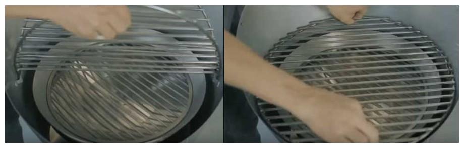 grille de cuisson du barbecue à charbon Cone fargau en situation