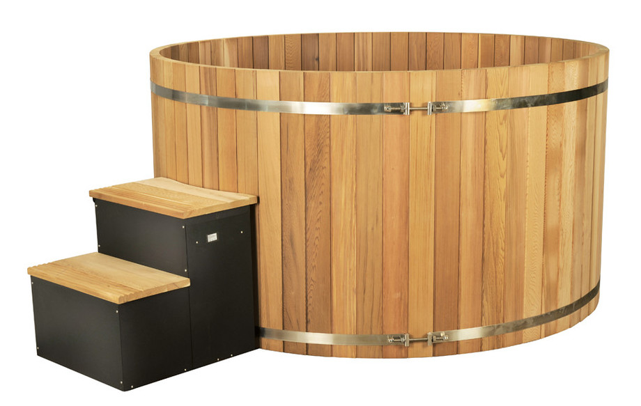 sauna en bois red cesar premium en situation