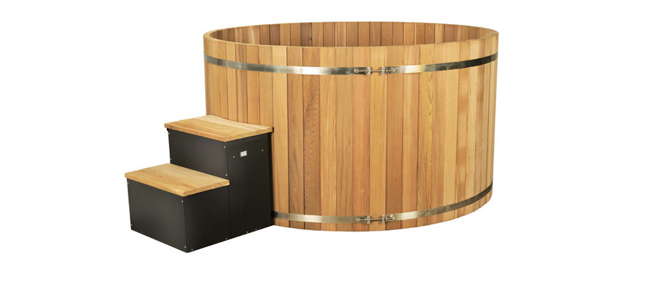 spa en bois red cedar premium en situation