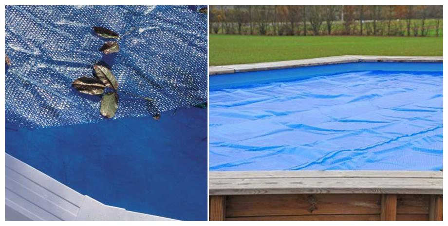 bâche à bulles pour piscine hors sol Gré 267 microns descriptif en situation