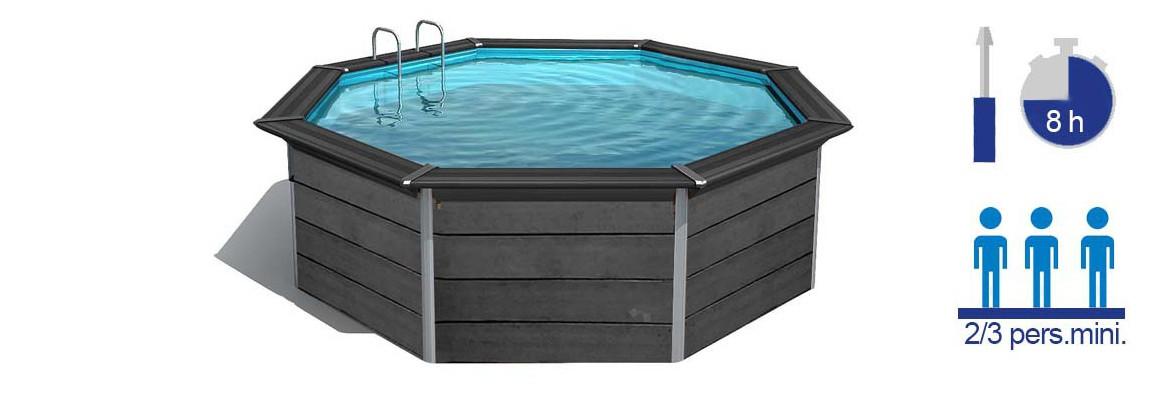 caractéristiques de la piscine en kit en composite gré avant garde