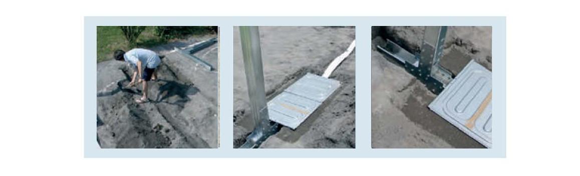 renfort de structure de la piscine bois composite gré avant garde