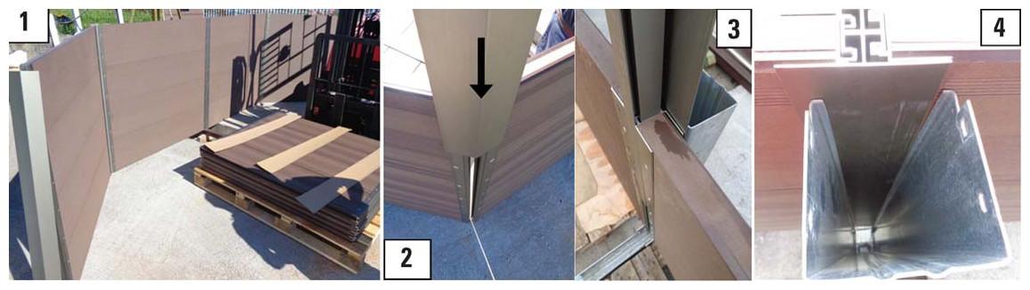 assemblage de la structure du kit piscine bois composite gré avant garde
