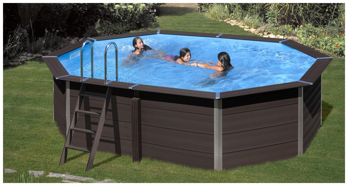 piscine hors sol en bois composite gré avant garde en situation