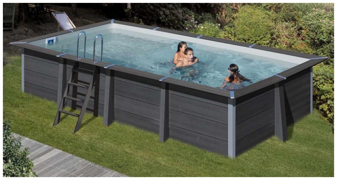 piscine en kit à monter gré avant garde en bois composite