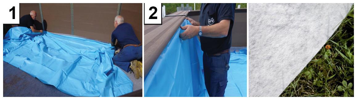 liner et tapis de sol pour la piscine hors sol gré composite avant garde
