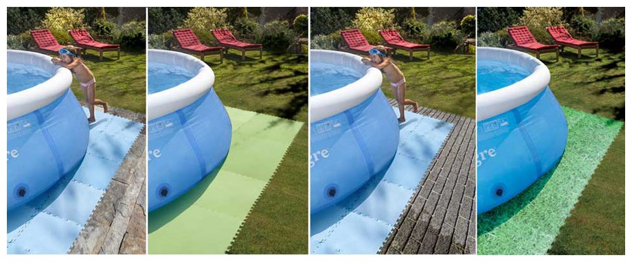 Dalle de protection pour piscine hors sol piscine center net for Protection enfant piscine