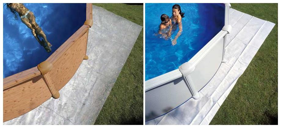 tapis de sol de piscine Gré en situation
