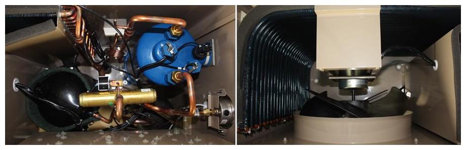 intérieur de la pompe à chaleur pacfirst steel wifi