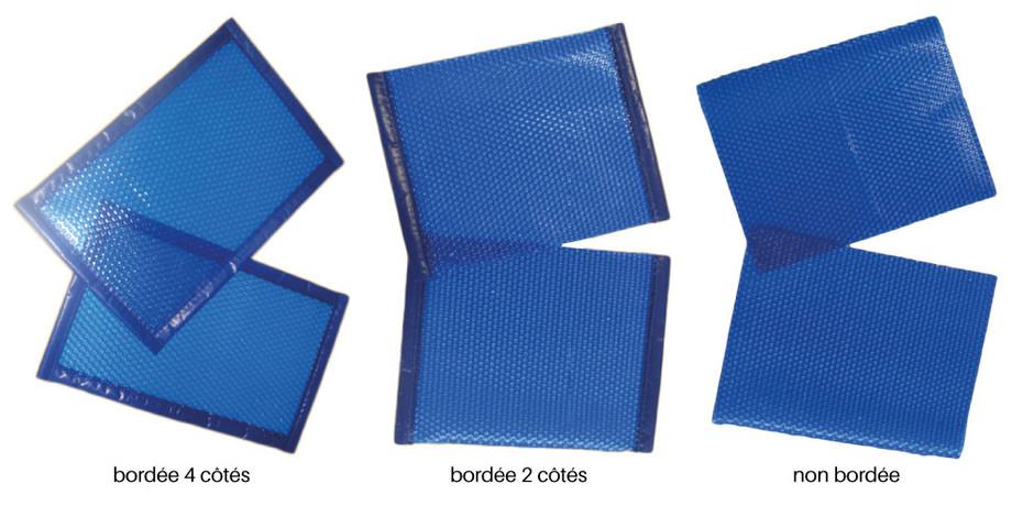 Bâche à bulles standard prédécoupée 400µ bleu - finitions découpe