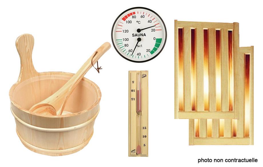 kit accessoires pour sauna vapeur france sauna