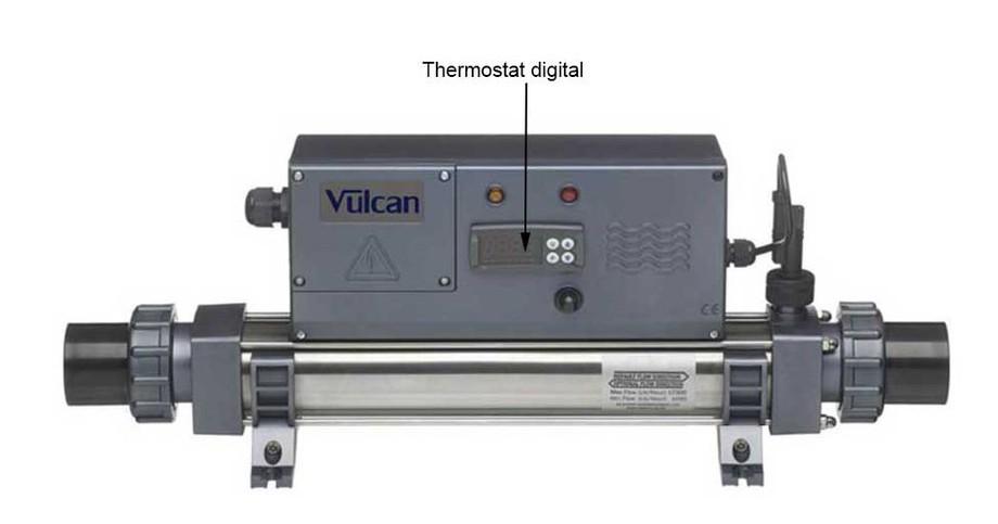 caractéristiques techniques du réchauffeur de piscine Vulcan Electro digital