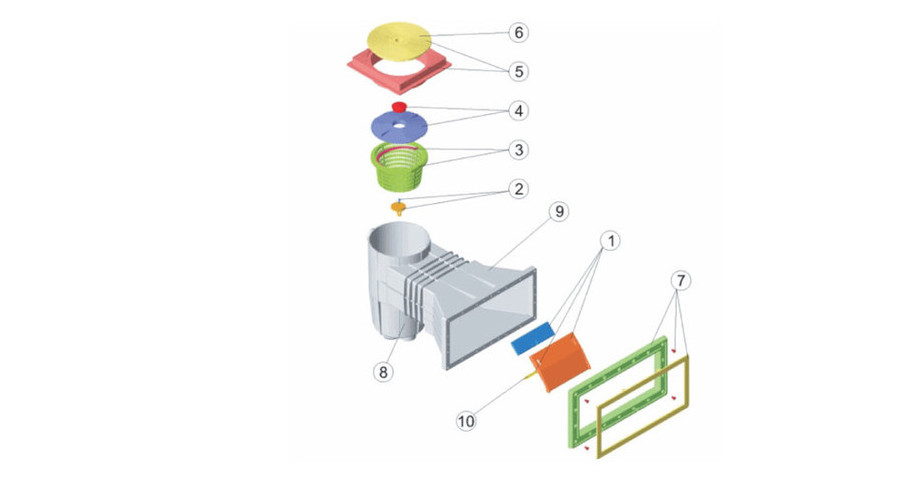 caractéristiques skimmer béton liner pour filtration de piscine
