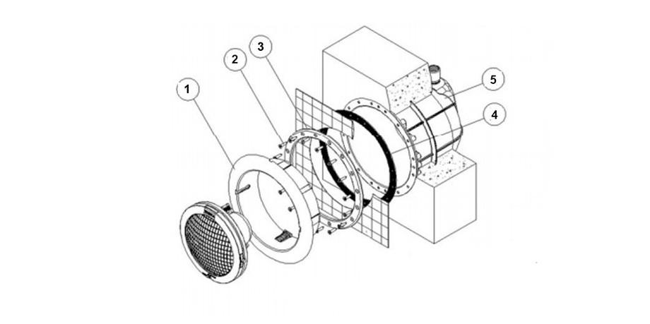 caractéristiques techniques du projecteur de piscine gris anthracite 300 W Astral