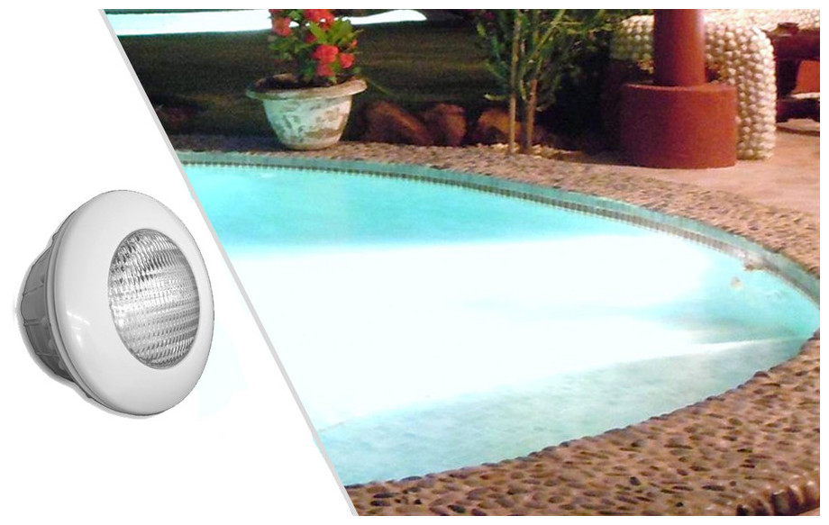 projecteur blanc led blanche piscine b ton liner piscine center net. Black Bedroom Furniture Sets. Home Design Ideas