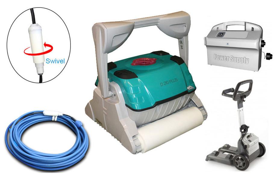 équipement complet du robot de piscine Dolphin D210 brosse mousse