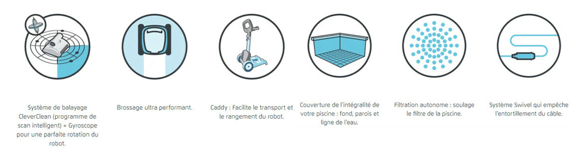 pictogramme robot de piscine dolphin d210