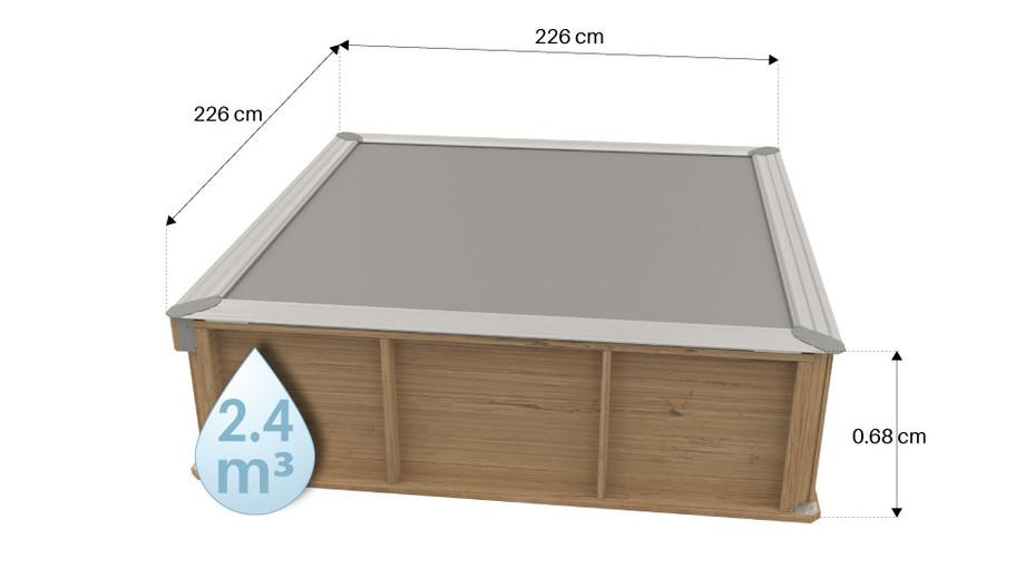 Pistoche, la piscine bois Made in France pensée pour les enfants dimensions