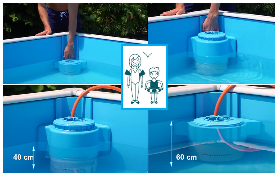 filtration de la piscine bois pistoche