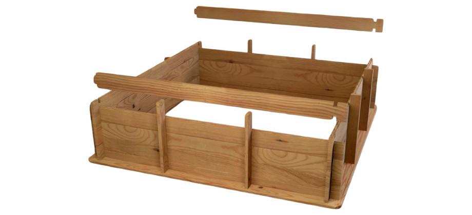 Piscine bois Pistoche - La structure à assembler
