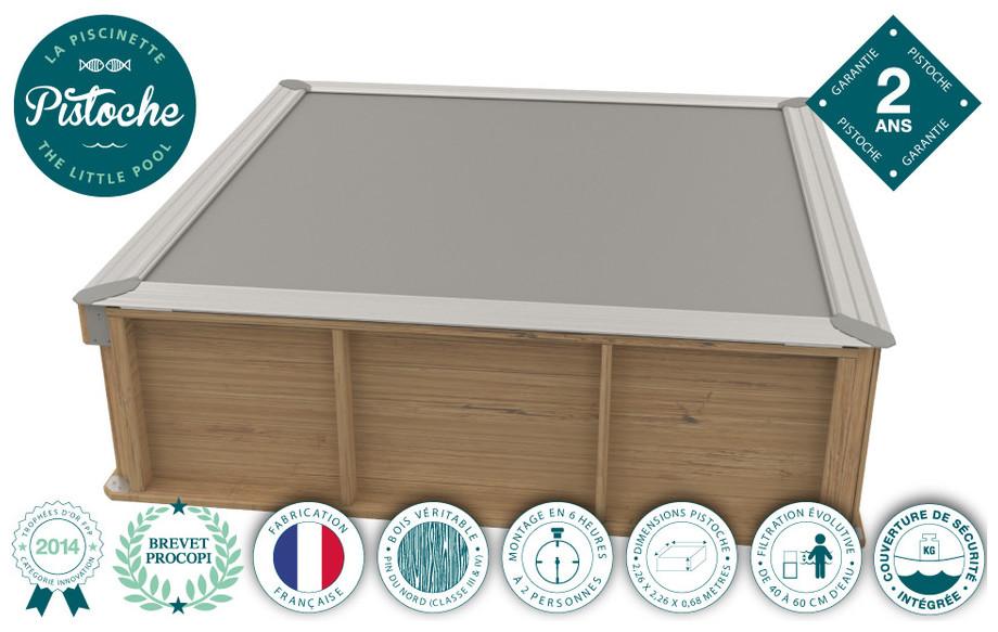 Piscine pistoche hors sol en bois pour enfant piscine for Piscine bois enfant