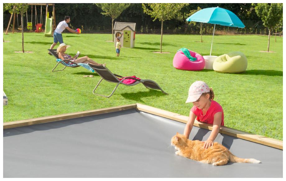 Piscine pistoche hors sol en bois pour enfant piscine for Protection enfant piscine