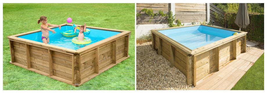 piscine tropic junior en bois pour enfants piscine. Black Bedroom Furniture Sets. Home Design Ideas