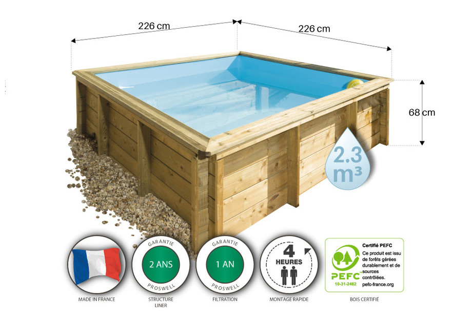 Piscine tropic junior en bois pour enfants piscine for Piscine center