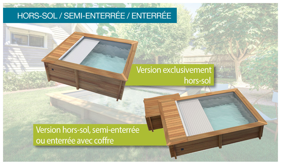 Piscine bois urbaine en kit proswell piscine center net for Piscine en kit bois semi enterree