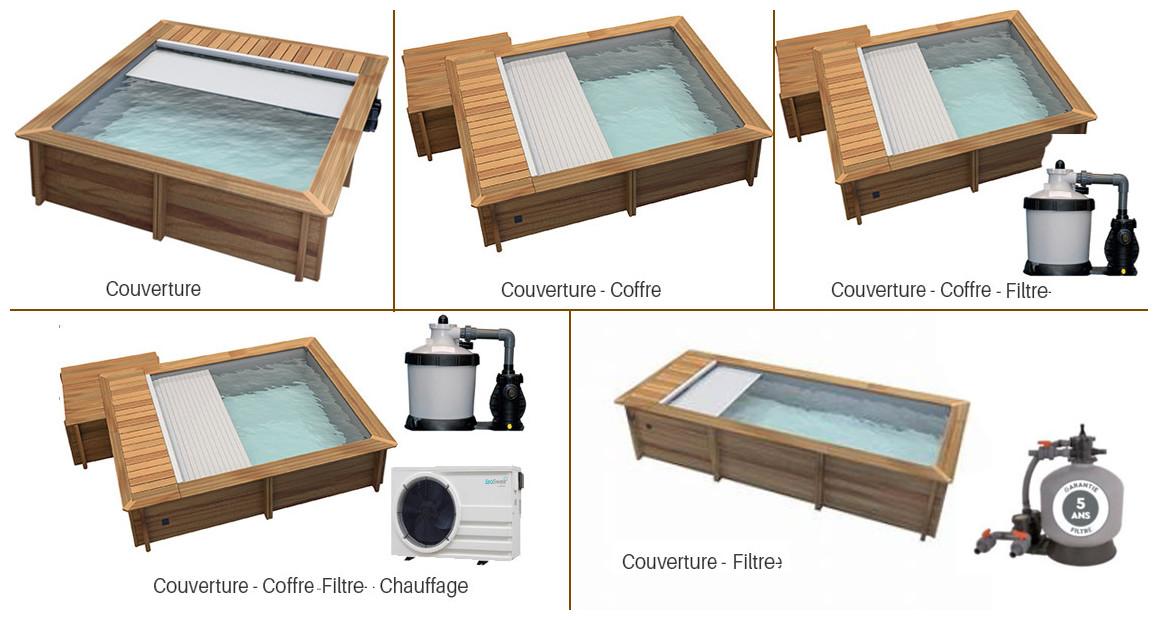 équipement de série de la piscine urbaine en bois proswell