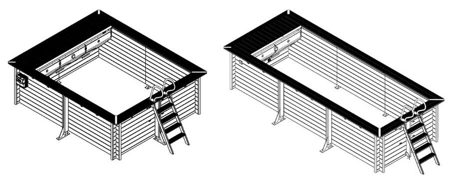 Piscine bois hors-sol Urbaine - Structure