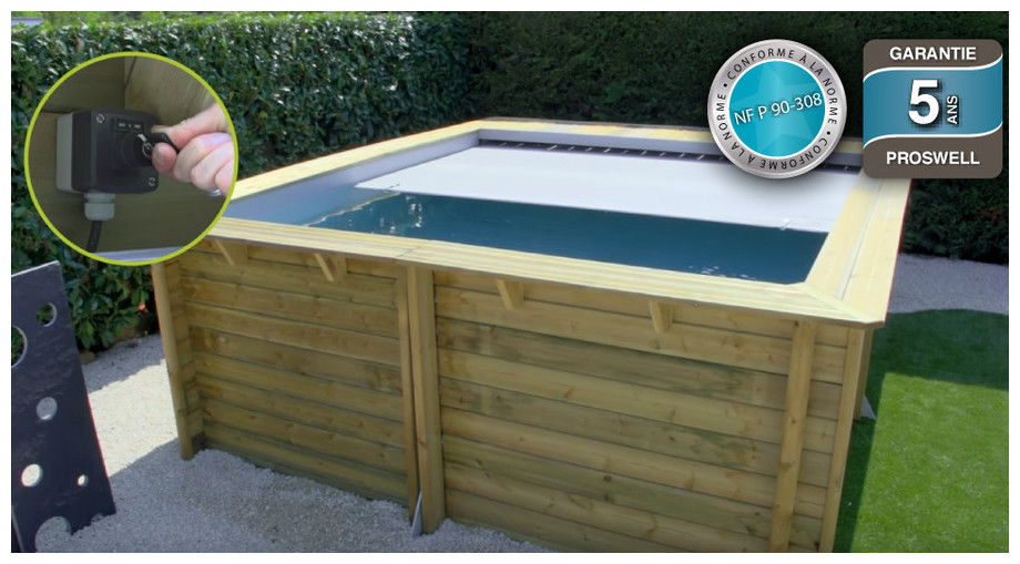 Piscine bois urbaine en kit proswell piscine center net for Buse de refoulement piscine hors sol bois