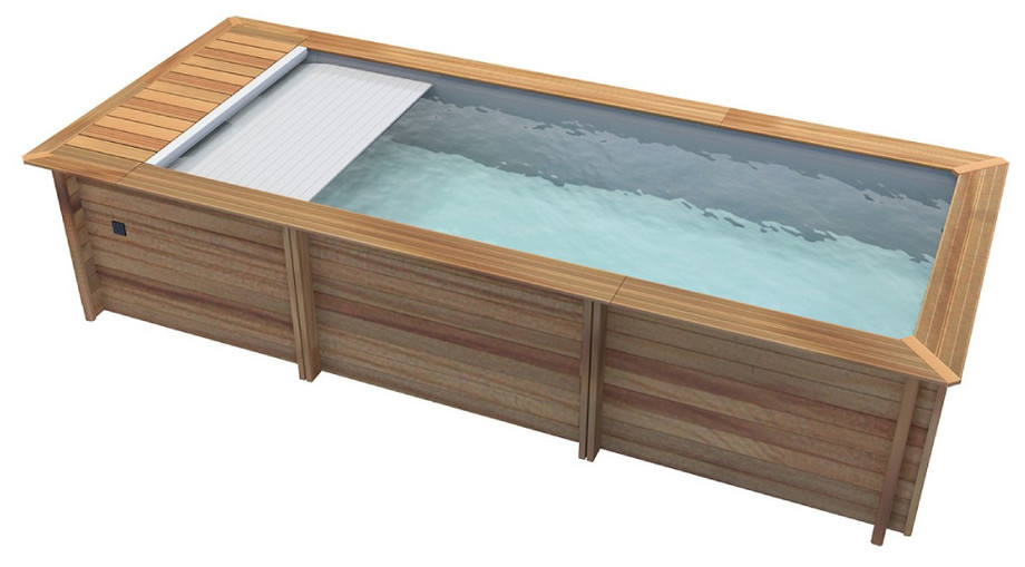 Piscine bois urbaine en kit proswell piscine center net for Piscine kit en bois