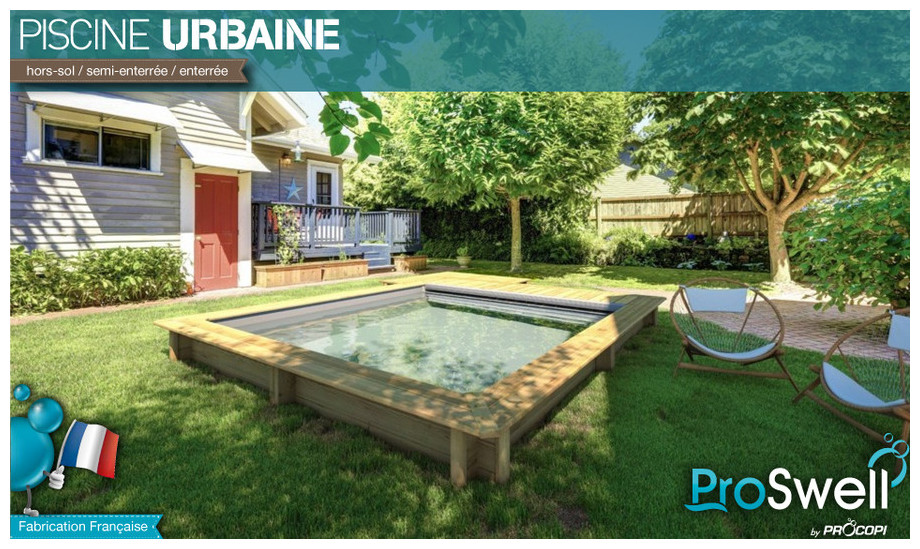 Piscine semi enterr e avec abri dl15 jornalagora for Piscine en bois occasion