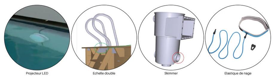 Piscine bois hors-sol Urbaine - details équipement