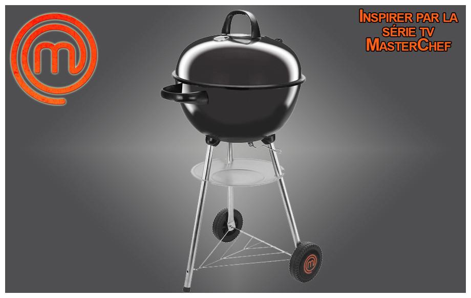 Barbecue rond à charbon de bois MasterChef