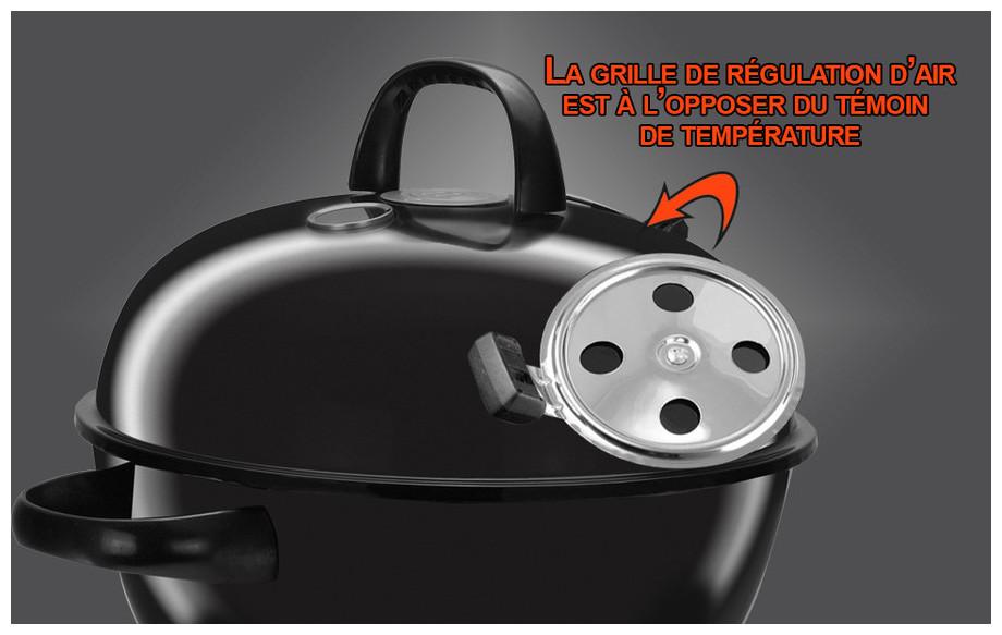 Grille d'arrivée d'air du barbecue premium 57