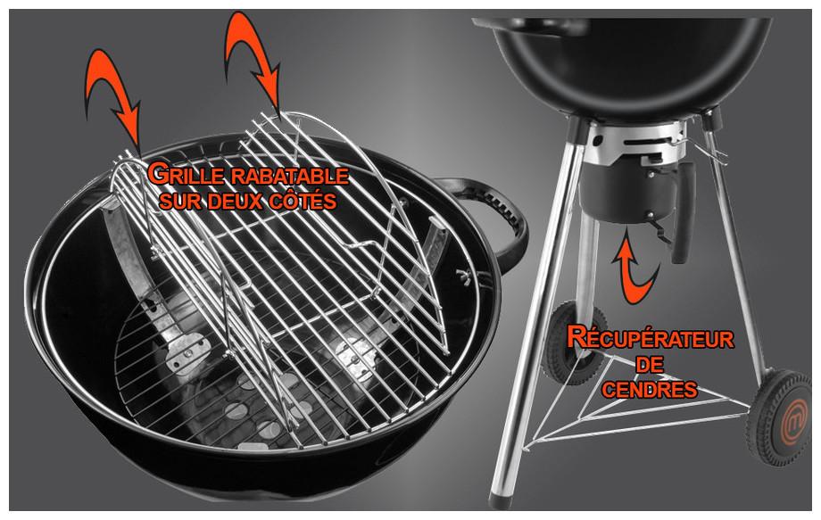 Récupérateur de cendres barbecue Premium 57