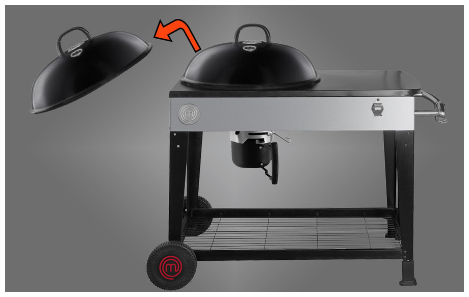 Couvercle du barbecue MasterChef party grill 57