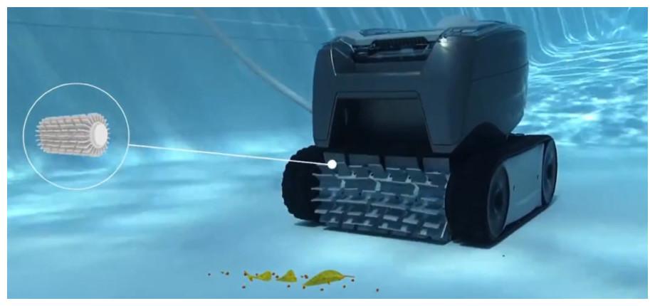 Robot de piscine TornaX OT2100 - fonction brossage